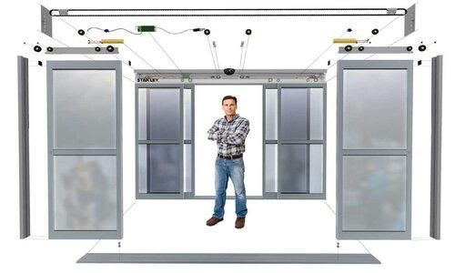 بهره گیری از تجهیزات و اتصالات مناسب در نصب درب اتوماتیک