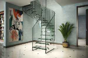 کاربرد شیشههای سکوریت در راه پله
